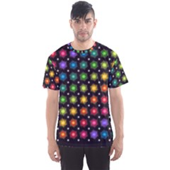 Background Colorful Geometric Men s Sports Mesh Tee