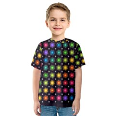 Background Colorful Geometric Kids  Sport Mesh Tee