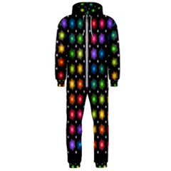 Background Colorful Geometric Hooded Jumpsuit (men)