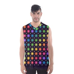 Background Colorful Geometric Men s Basketball Tank Top