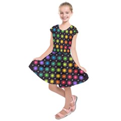 Background Colorful Geometric Kids  Short Sleeve Dress