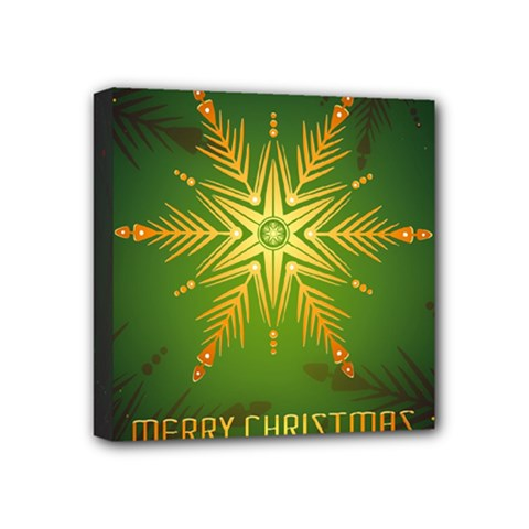 Christmas Snowflake Card E Card Mini Canvas 4  X 4