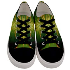 Christmas Snowflake Card E Card Men s Low Top Canvas Sneakers