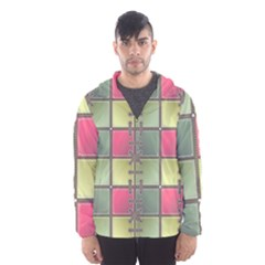 Seamless Pattern Seamless Design Hooded Wind Breaker (men)