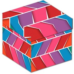 Abstract Background Colorful Storage Stool 12