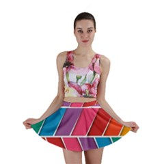 Abstract Background Colorful Mini Skirt