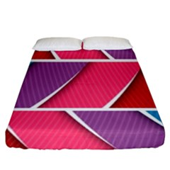Abstract Background Colorful Fitted Sheet (king Size)