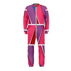 Abstract Background Colorful Onepiece Jumpsuit (kids)