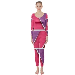 Abstract Background Colorful Long Sleeve Catsuit