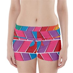 Abstract Background Colorful Boyleg Bikini Wrap Bottoms