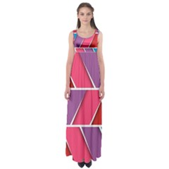Abstract Background Colorful Empire Waist Maxi Dress
