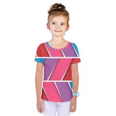 Abstract Background Colorful Kids  One Piece Tee