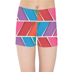 Abstract Background Colorful Kids Sports Shorts