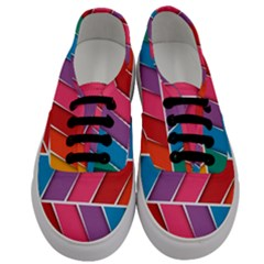 Abstract Background Colorful Men s Classic Low Top Sneakers