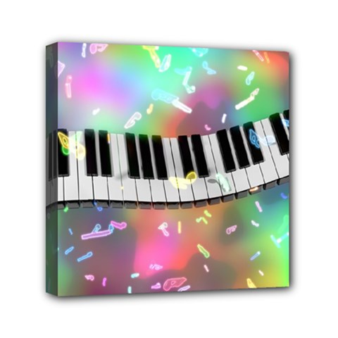 Piano Keys Music Colorful 3d Canvas Travel Bag