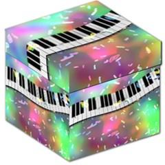 Piano Keys Music Colorful 3d Storage Stool 12
