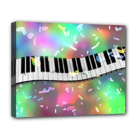 Piano Keys Music Colorful 3d Deluxe Canvas 20  X 16   by Nexatart