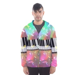 Piano Keys Music Colorful 3d Hooded Wind Breaker (men)