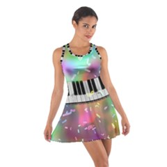 Piano Keys Music Colorful 3d Cotton Racerback Dress