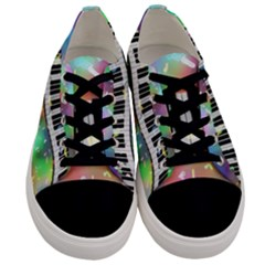 Piano Keys Music Colorful 3d Men s Low Top Canvas Sneakers