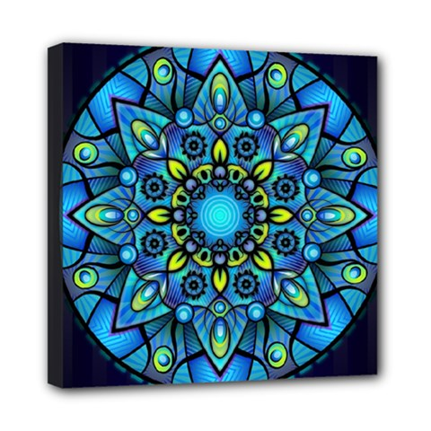 Mandala Blue Abstract Circle Multi Function Bag