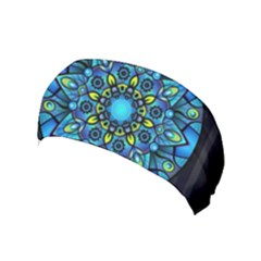 Mandala Blue Abstract Circle Yoga Headband