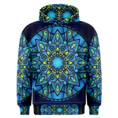 Mandala Blue Abstract Circle Men s Overhead Hoodie