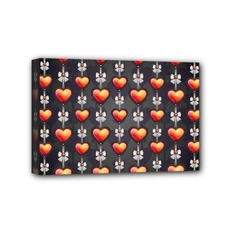 Love Heart Background Mini Canvas 6  X 4