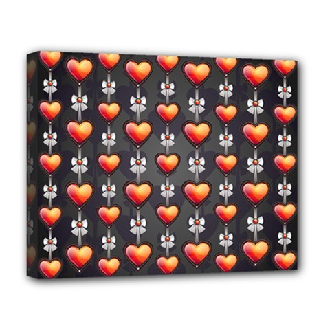 Love Heart Background Deluxe Canvas 20  X 16