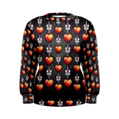 Love Heart Background Women s Sweatshirt