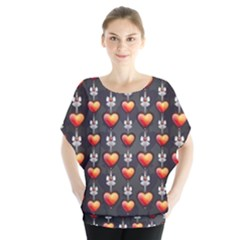 Love Heart Background Blouse