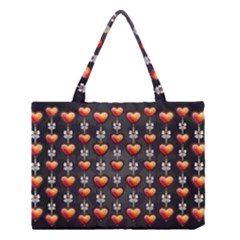 Love Heart Background Medium Tote Bag