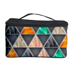 Abstract Geometric Triangle Shape Cosmetic Storage Case