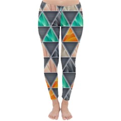 Abstract Geometric Triangle Shape Classic Winter Leggings
