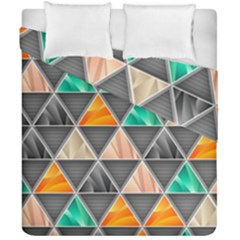 Abstract Geometric Triangle Shape Duvet Cover Double Side (california King Size)