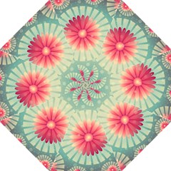 Background Floral Flower Texture Hook Handle Umbrellas (large)