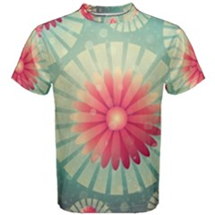 Background Floral Flower Texture Men s Cotton Tee