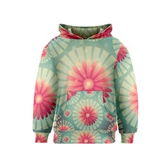 Background Floral Flower Texture Kids  Pullover Hoodie