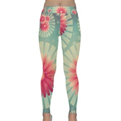 Background Floral Flower Texture Classic Yoga Leggings