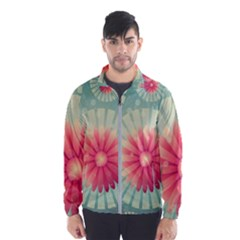 Background Floral Flower Texture Wind Breaker (men)