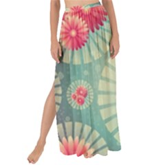 Background Floral Flower Texture Maxi Chiffon Tie Up Sarong