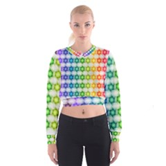Background Colorful Geometric Cropped Sweatshirt