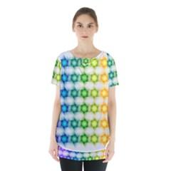Background Colorful Geometric Skirt Hem Sports Top