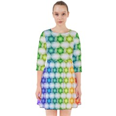 Background Colorful Geometric Smock Dress