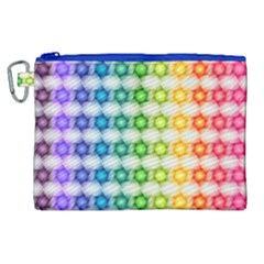Background Colorful Geometric Canvas Cosmetic Bag (xl) by Nexatart