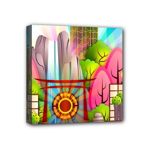 Zen Garden Japanese Nature Garden Mini Canvas 4  X 4