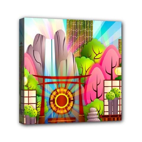 Zen Garden Japanese Nature Garden Canvas Travel Bag