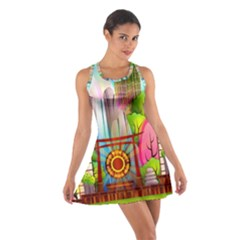 Zen Garden Japanese Nature Garden Cotton Racerback Dress by Nexatart