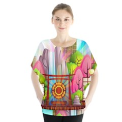 Zen Garden Japanese Nature Garden Blouse