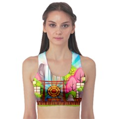 Zen Garden Japanese Nature Garden Sports Bra
